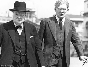 Brendan Bracken con Churchill