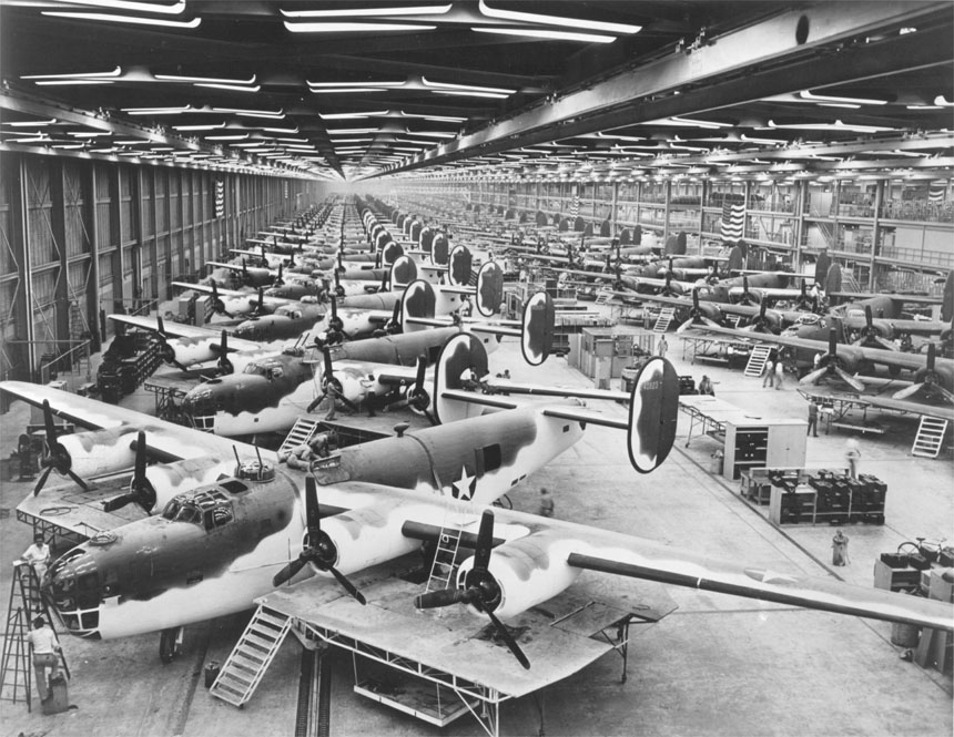 b-24_liberator_consolidated-vultee_plant_fort_worth_texas
